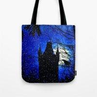 Snowfall At Full Moon Tote Bag