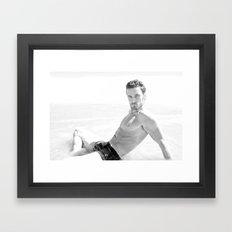 The beach boy Framed Art Print