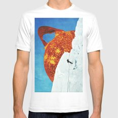sun White SMALL Mens Fitted Tee