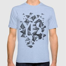 Not So Negative Space - White Mens Fitted Tee Athletic Blue SMALL