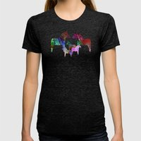 Royal Orchard Womens Fitted Tee Tri-Black SMALL