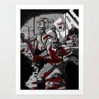 Zombie Rush (Gray Tone V… Art Print