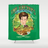 The Doctor's Sonic Tonic! 2.0 Shower Curtain