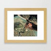 Miles From Everywhere Framed Art Print