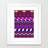 Cube Geometric IX Framed Art Print