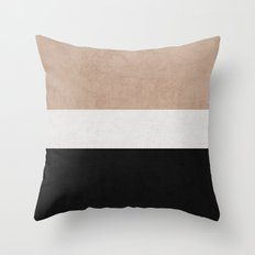 classic - natural, cream and black Throw Pillow