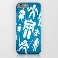 iPhone & iPod Case featuring Plastic Heroes by powerpig