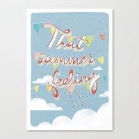 That Summer Feeling Canvas Print