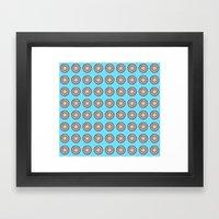 Tania Circle Repeat Framed Art Print