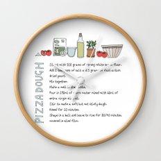 Pizza Dough Wall Clock