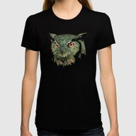 T-shirt featuring Owl - Red Eyes by Puddingshades
