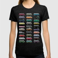 Camper Van Womens Fitted Tee Tri-Black SMALL