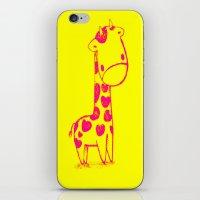 Pink Cute Giraffe iPhone & iPod Skin