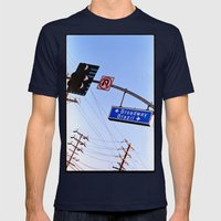 chances (35mm ) Mens Fitted Tee Navy SMALL