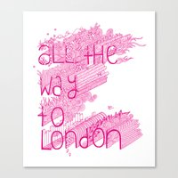 All the Way to London Canvas Print