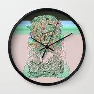 Wall Clock featuring L O S T W O R D S by Cassidy Rae Limbach