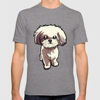Alice (Shih Tzu) Mens Fitted Tee Tri-Grey SMALL