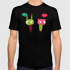 Little friends Mens Fitted Tee SMALL Black