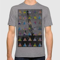 Postcard Mens Fitted Tee Athletic Grey SMALL