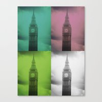 Canvas Print featuring 4 Times the Ben by Christine Workman