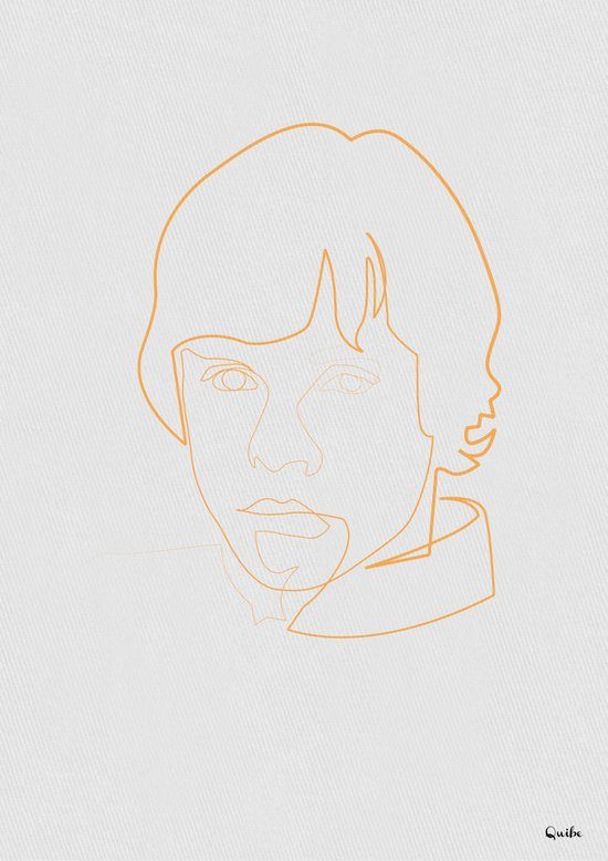 One line Skywalker Art Print