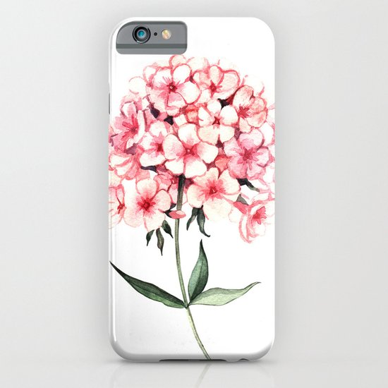 Watercolor flower phlox iPhone & iPod Case