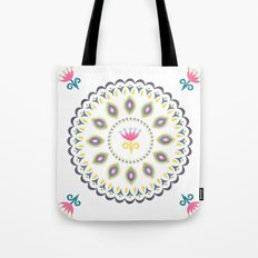 Suzani inspired floral blue 4 Tote Bag
