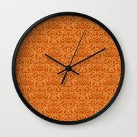 Cloud Factory Damask - M… Wall Clock