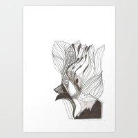 EL hombre pájaro Art Print