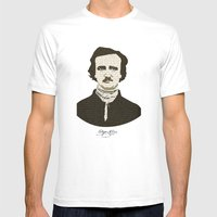 Edgar A. Poe Mens Fitted Tee White SMALL