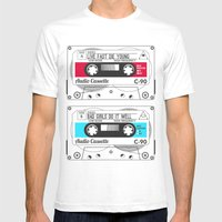 Audio Cassette SIDE A �… Mens Fitted Tee White SMALL