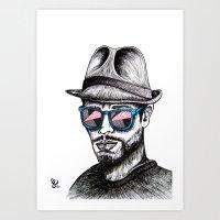 Reflective Rave Art Print