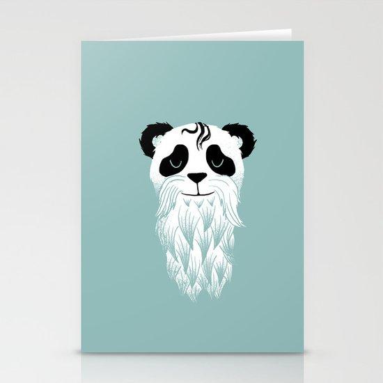 Panda Beard Stationery Card