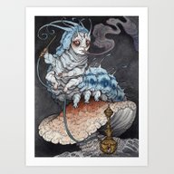 Absolem The Blue Caterpi… Art Print