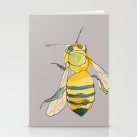 Bee No. 2x2 Stationery Cards