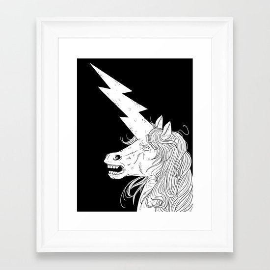 Thunderhorse Framed Art Print