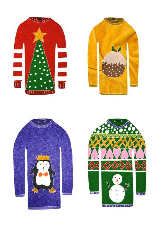 Christmas jumpers  Art Print