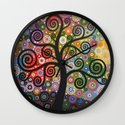 Tree of Wishes Wall Clock