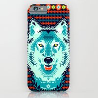 iPhone & iPod Case featuring Geometric Wolf  by chobopop