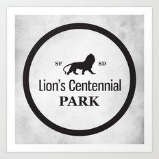 Lion's Centennial Park Art Print