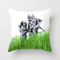 Marines Throw Pillow