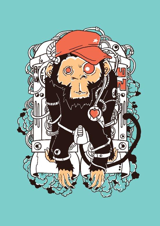 Rocket Monkeys Canvas Print