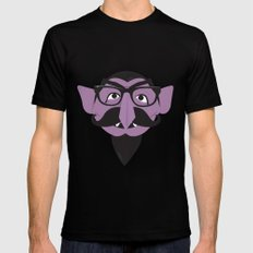 Hipster Count SMALL Mens Fitted Tee Black