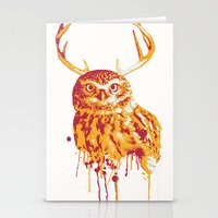 Owlope Stripped Stationery Cards