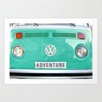 Adventure Wolkswagen. Su… Art Print