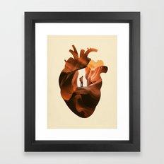 Heart Explorer Framed Art Print