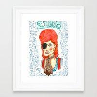 Ziggy Stardust. Framed Art Print