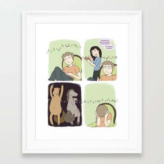 The Song Ruiner - Comic Framed Art Print