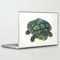 turtle Laptop & iPad Skins featuring Turtle by Aina Serratosa