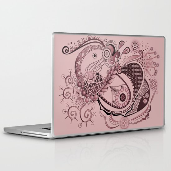 Spring tangle, plum pink Laptop & iPad Skin